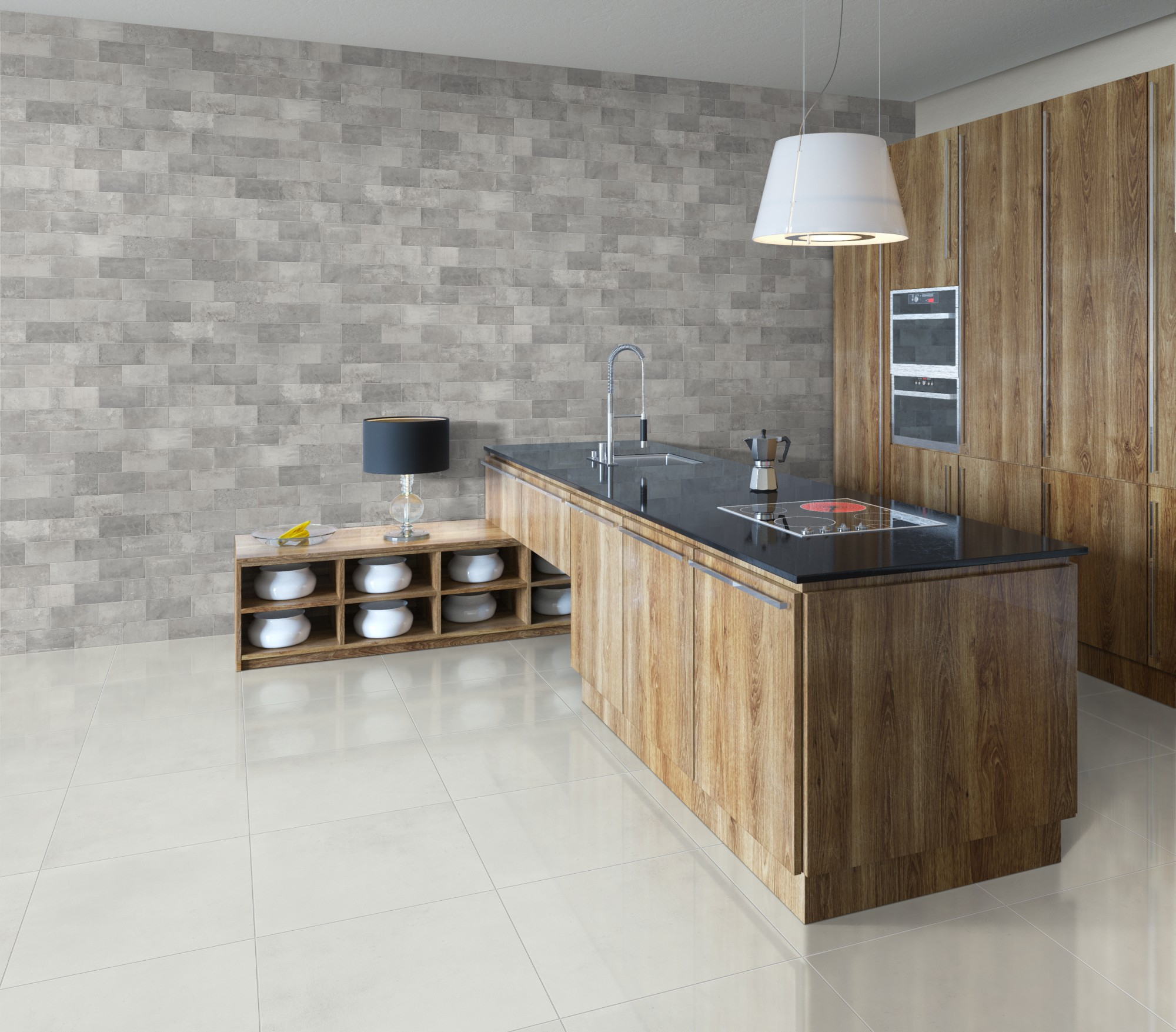 Kitchen Tiles Grey quattra -tinta series - kitchen tiles - international tiles