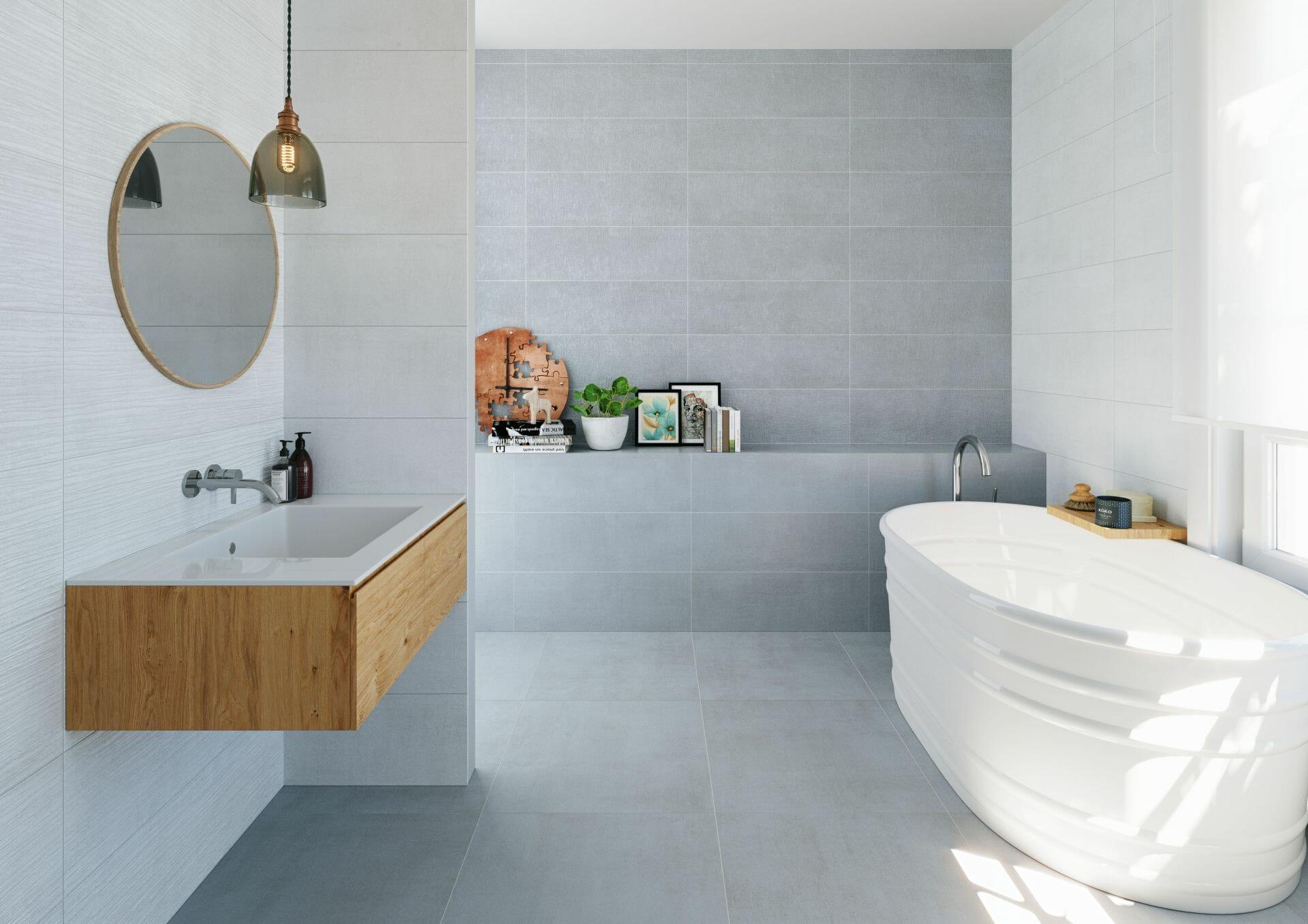 Shape Grey Floor - International Tiles